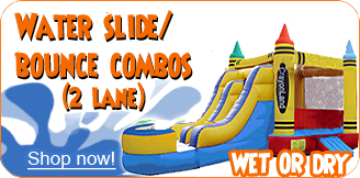2 lane water slide combos