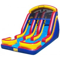 (C) 18ft Dual Lane Water Slide