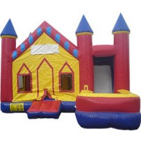 (A  )Econo Castle 7N1 Bounce Slide combo (Wet or Dry)