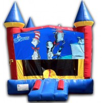 (C) Cat in the hat Castle Bounce House