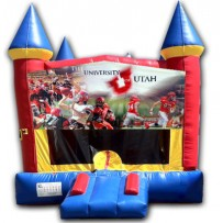 (C) Utah Utes Castle Bounce House