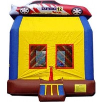(B) Race Car Bounce House
