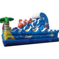 (B) Tropical Ocean Wave Playground Obstacle Course