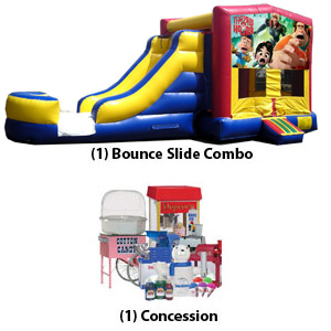 Bounce Slide Combo and Babysitter package
