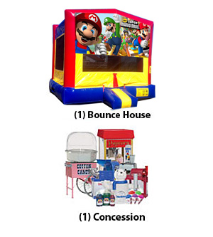 Bounce House and Concession birthday package