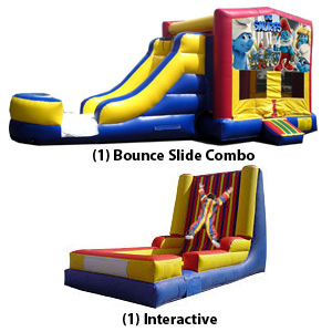bounce slide combo, interactive - double your fun